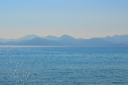 vacance: mont viewed from Cannes