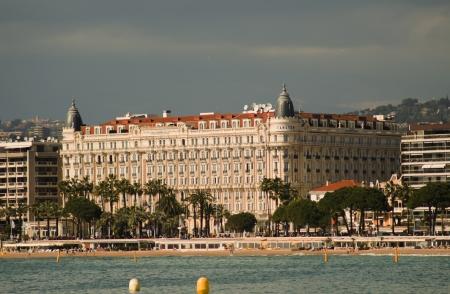 hotel Carlton in Cannes Foto de archivo