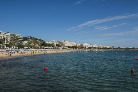 vacance: city of Cannes and the beach Stock Photo