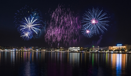 Cannes firework Stock Photo