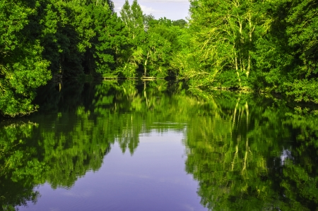 candes: Indres river in Loir valley