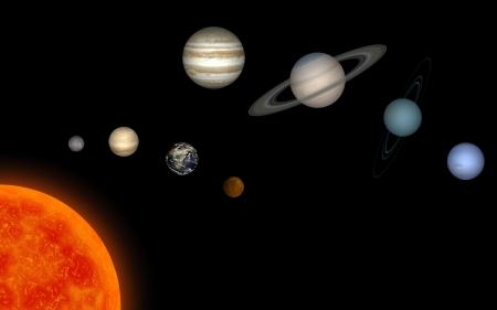 solar system Ilustrace
