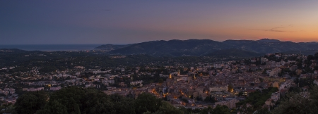 vacance: city of Grasse France Stock Photo