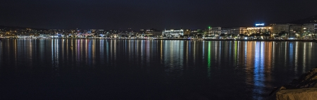 city panorama of Cannes by night photo