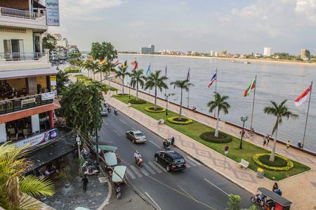 penh: Phnom Penh riverside from the rooftop