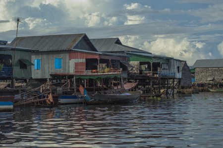 Floating village Cambodia photo
