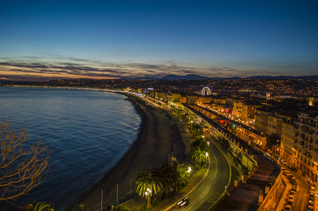 City of Nice by night