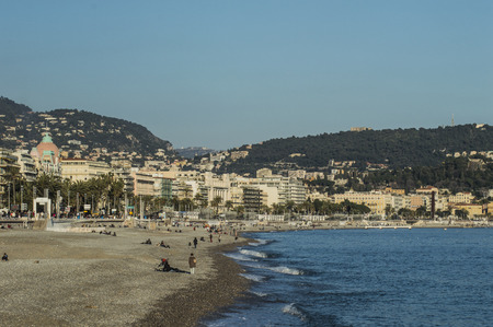 Nice from the beach and his famous hotel  Negresco