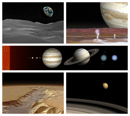 Different landscape in solar system Vector