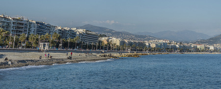 city of Nice from the beach  photo