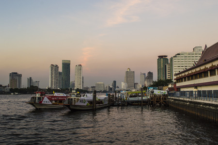 chao praya: Chao Praya in Bangkok scenery