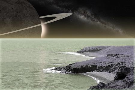 alien landscape: paesaggio straniero Vettoriali