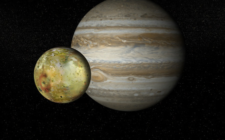 Io and Jupiter Vector