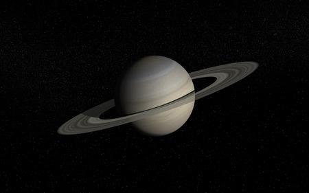 Saturn in deep space Vector