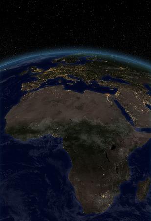 city lights: City lights - Africa Europe