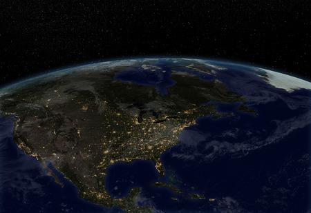 city lights: City lights - North America