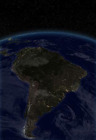 city lights: City lights - South America