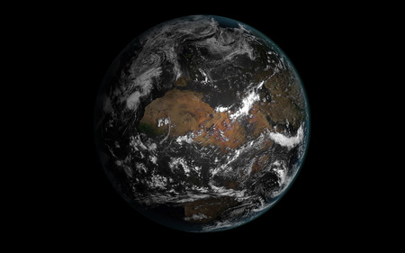Earth viewed from space Vector