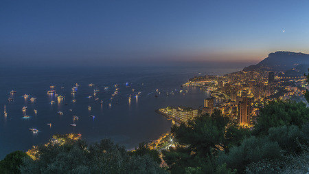 Sunset in Monte Carlo Monaco