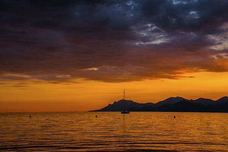 Sunset in Cannes photo