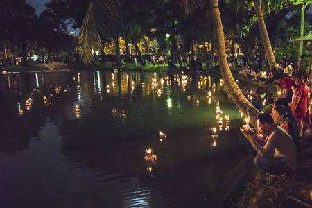 Loy Krathong festival Reklamní fotografie