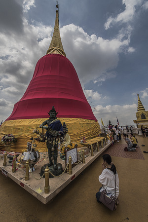 Wat Saket on the Golden Mountain Bangkok Thailand