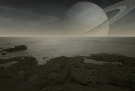 io: Saturn moon Titan view from