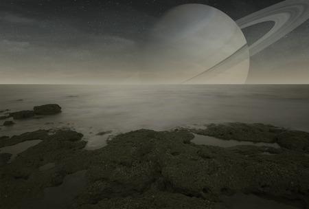 titan: Saturn moon Titan view from