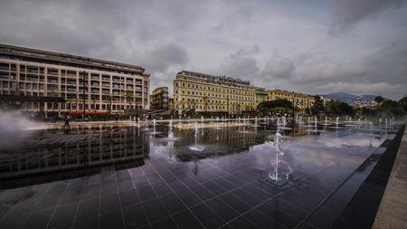 nice france: Modern fountain in Nice, france