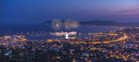 Firework in Cannes. 14th july 2015, French national day