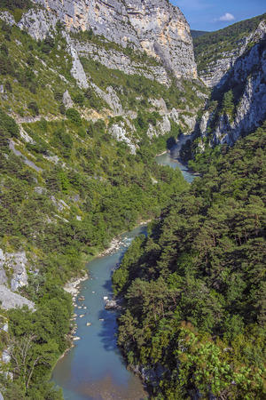 gully: Verdon canyon near Castellane in Provence