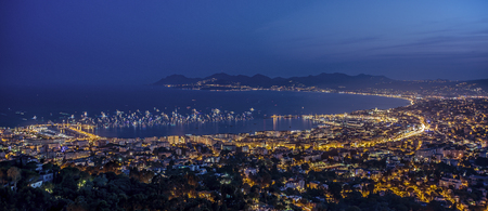 Cannes citylight in summer