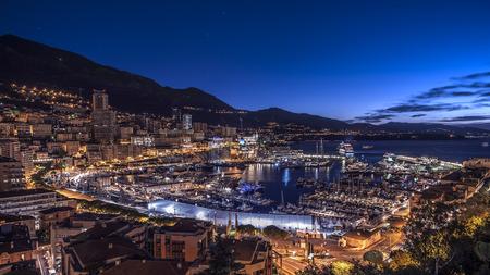 Harbor in Monaco Foto de archivo