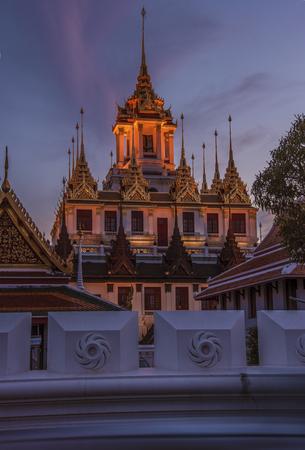 temple thailand: Wat temple in Bangkok Ratchanatdaram