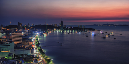 Sunset in Pattaya city