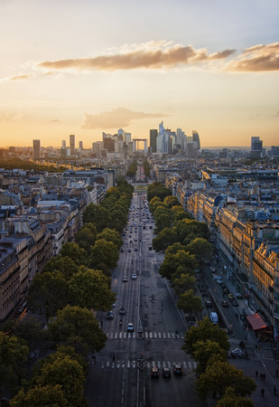champs elysees: Champs Elysees in Paris Stock Photo