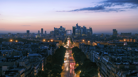 champs: Champs Elysees in Paris Stock Photo