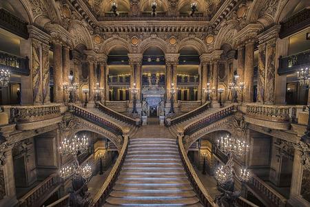 Stairway inside the Opera House Palais Garnier Éditoriale