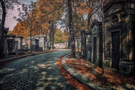 Pere Lachaise cemetery in Paris Foto de archivo