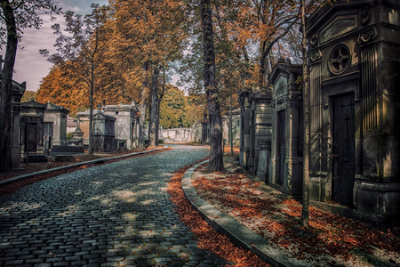 Pere Lachaise cemetery in Paris Stock Photo
