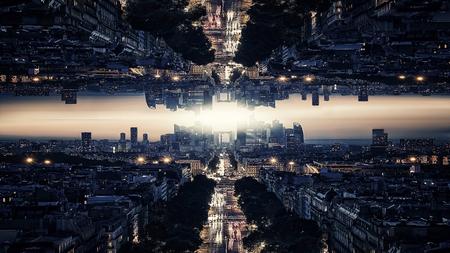 Parallel universum wetenschapstheorie Stockfoto