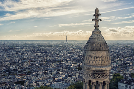 Paris from the sacred heart roof
