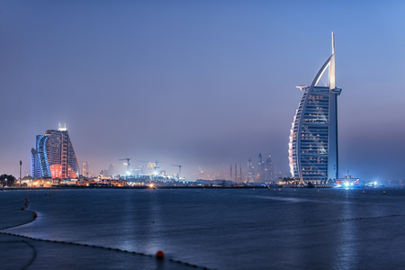 Dubai city viewed from the Palm Jumeirah