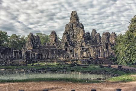 Angkor Thom in Angkor complex Reklamní fotografie - 91785434
