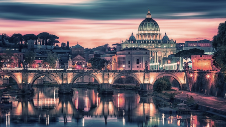 St Peters Basilica in Rome Stock Photo