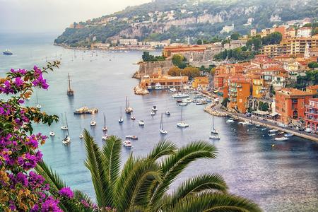 Villefranche sur Mer between Nice and Monaco Stock Photo