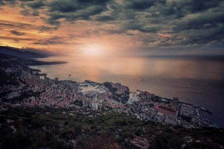 Monaco sunrise viewed from La Turbie