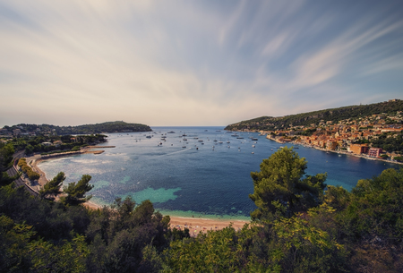 Villefranche sur Mer on the French Riviera Stock Photo