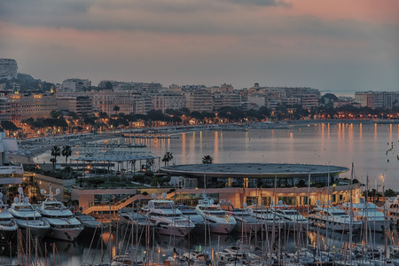 Cannes sunrise viewed from Le Suquet