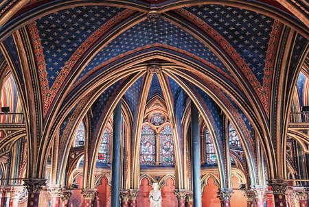 Stained glass of the Sainte Chapelle church in Paris